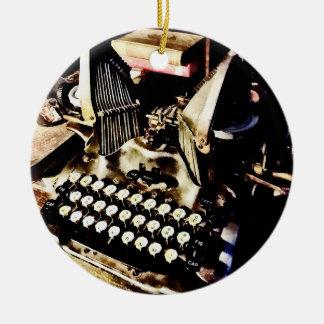 Antique Typewriter Oliver #9 Ceramic Ornament