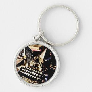 Antique Typewriter Oliver #9 Keychain