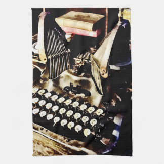 Antique Typewriter Oliver #9 Kitchen Towel