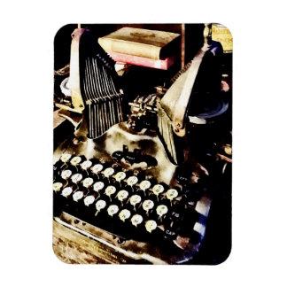 Antique Typewriter Oliver #9 Rectangular Photo Magnet