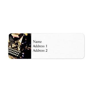 Antique Typewriter Oliver #9 Return Address Label
