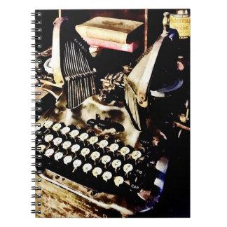 Antique Typewriter Oliver #9 Spiral Notebooks