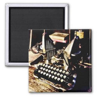 Antique Typewriter Oliver #9 Square Magnet