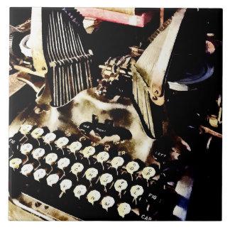 Antique Typewriter Oliver #9 Tile