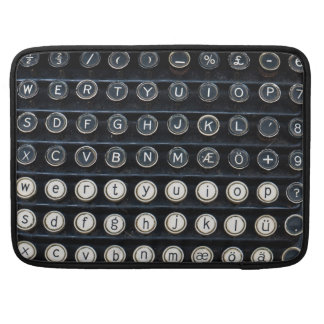 Antique Typewriter Sleeve For MacBook Pro