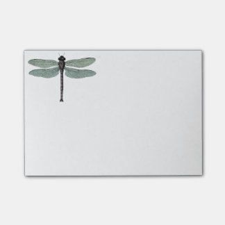 antique typographic vintage dragonfly sticky note