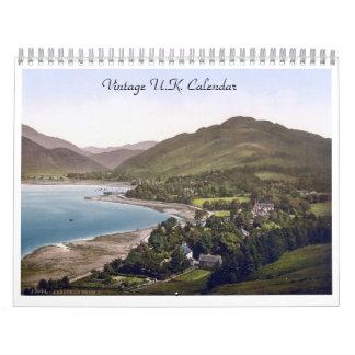 Antique UK, vintage Great Britain images Calendar
