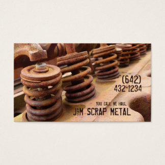 Antique Vehicle  Engine Scrap Metal Biz Business Card