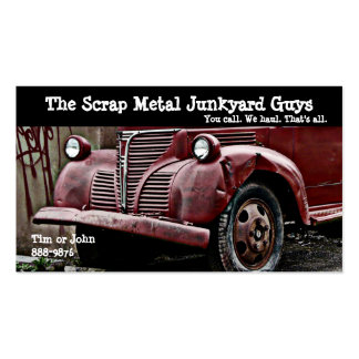Antique Vehicle  Scrap Metal Biz Business Card
