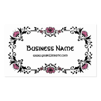 Antique Victorian Decorative Floral Pink Flowers Pack Of Standard Business Cards