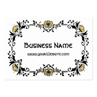 Antique Victorian Decorative Floral Yellow Flowers Large Business Card