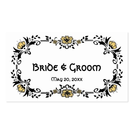 Antique Victorian Floral Flowers, Wedding Table No Business Card Template