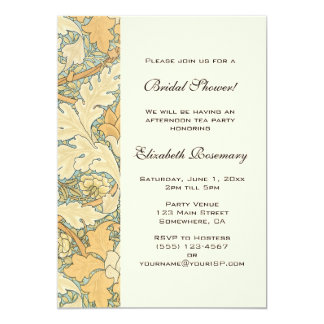 Antique Victorian Flowers Floral Bridal Shower Card