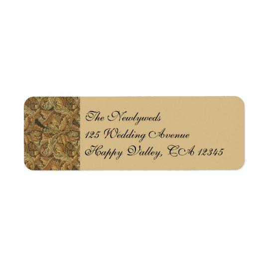 Antique Victorian Warm Autumn Leaves Wedding