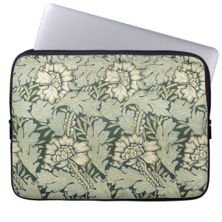 Antique Victorian William Morris Garden Flowers Laptop Sleeve
