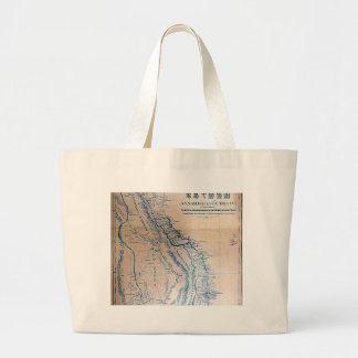 Antique Vietnamese map Jumbo Tote Bag