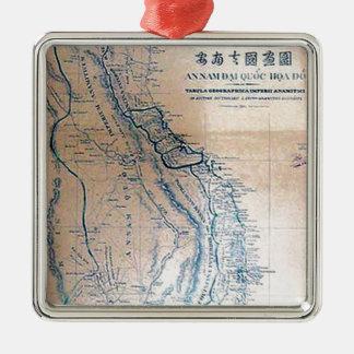 Antique Vietnamese map Metal Ornament