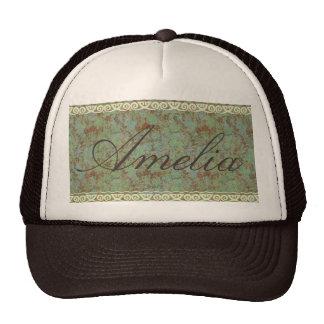 Antique,vintage,aqua,floral,lace,pattern,victorian Trucker Hat