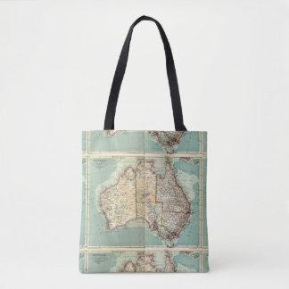 Antique Vintage Australian continent detailed map Tote Bag
