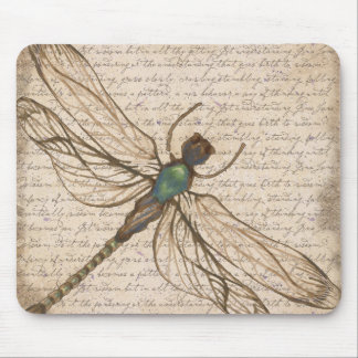 Antique Vintage Dragonfly Mousepad