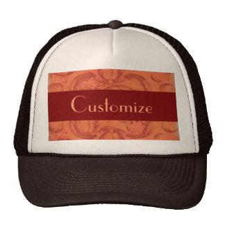 Antique Vintage Floral Damask Grunge Pattern Trucker Hat