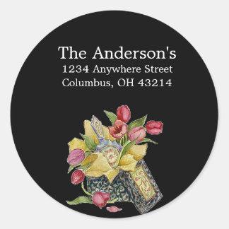 Antique/Vintage Flower Box Address Labels