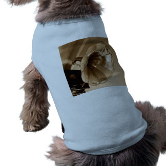 Antique Vintage Gramophone Gifts Music Lovers Dog Tee