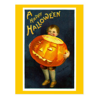 Antique Vintage Halloween JOL Postcard