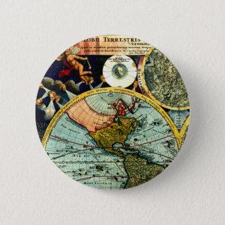 Antique Vintage Map World Globe Historical Art 2 Inch Round Button