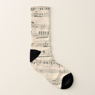 Antique Vintage Sheet Music Socks