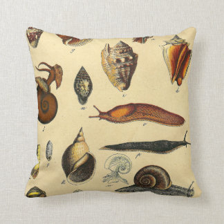 Antique Vintage Shell Snail Ocean Sea Pillow