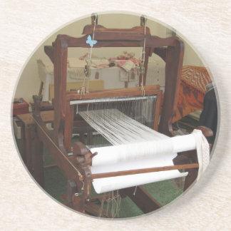 Antique vintage spinner machine working beverage coasters