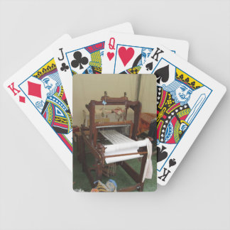 Antique vintage spinner machine working bicycle playing cards