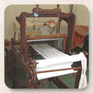 Antique vintage spinner machine working coaster