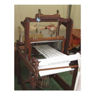 Antique vintage spinner machine working letterhead