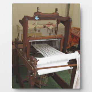 Antique vintage spinner machine working plaque