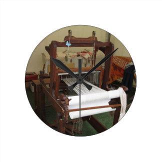 Antique vintage spinner machine working round clock