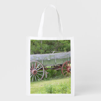 Antique Wagon Grocery Bag