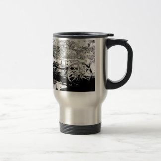 Antique Wagon in Pen and Ink Drawing Travel Mug