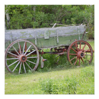 Antique Wagon Perfect Poster