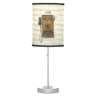 antique wall phone table lamp