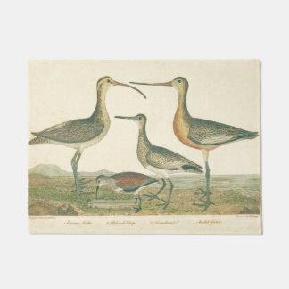 Antique Water Birds Marsh Illustration Doormat