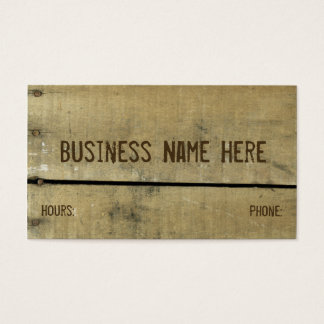 Antique Weathered Wood Business Card