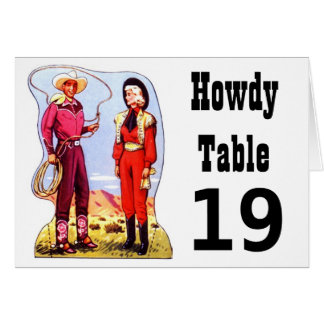 Antique Western Roundup Cowboy Cowgirl Table Cards