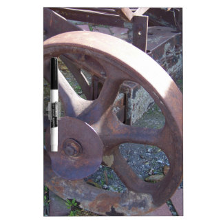 Antique Wheel Dry-Erase Whiteboard