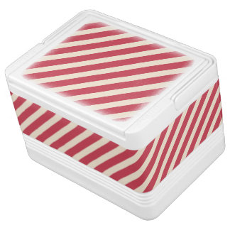 Antique White and Brick Red Diagonal Stripes