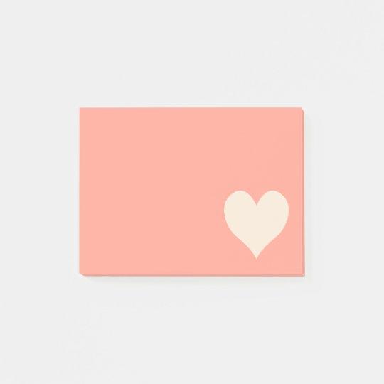 Antique White Cute Heart Shape Post-it® Notes