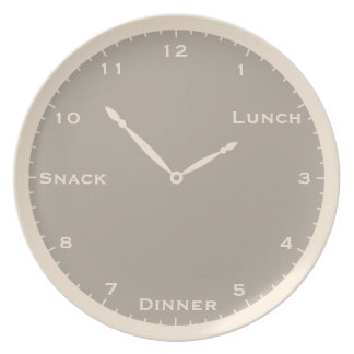 Antique White & Gray Clock Plate