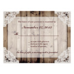 Antique White Lace Wedding RSVP Personalized Invite