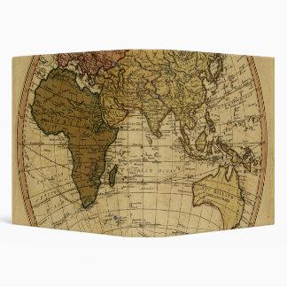 Antique William Faden 1786 Eastern Hemisphere Map Binder